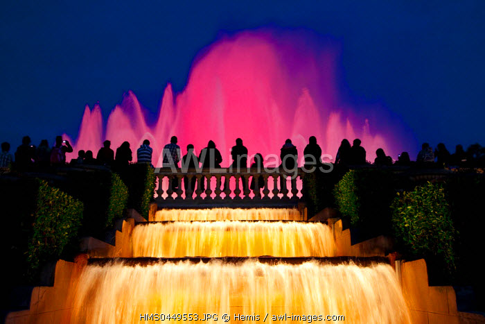 Spain, Catalonia, Barcelona, Montjuic District, Magic Fountain, Font Magica