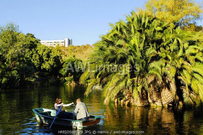 Spain, Catalonia, Barcelona, Ciutadella Park, the lake