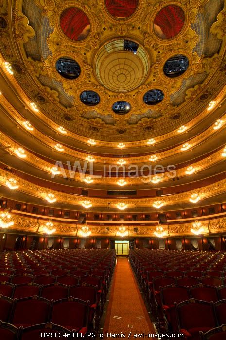Spain, Catalonia, Barcelona, Barri Gotic District, Gran Teatre del Liceu de Barcelona, Barcelona Opera House, circles