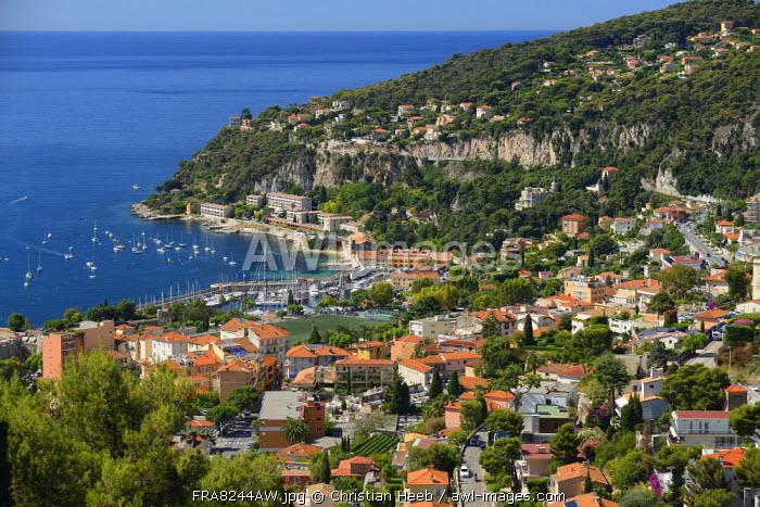 View of Villefranche sur Mer, Cote D'azur, France, Europe