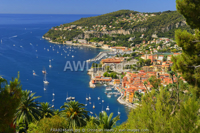 View of Villefranche sur Mer, Cote D'azur, France, Europe