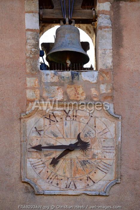 Clock detail in Roussillion, Provence-Alpes-C�te d'Azur,Provence France, Europe