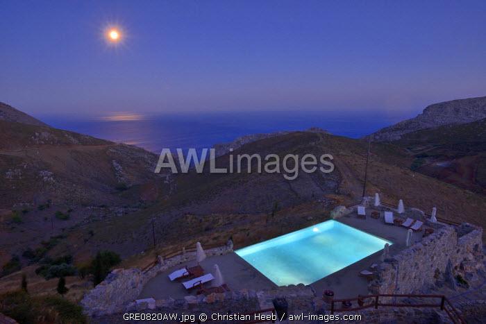 A hotel in Thalori, a Traditional Village in Kapetaniana, South Coast, Crete, Greece