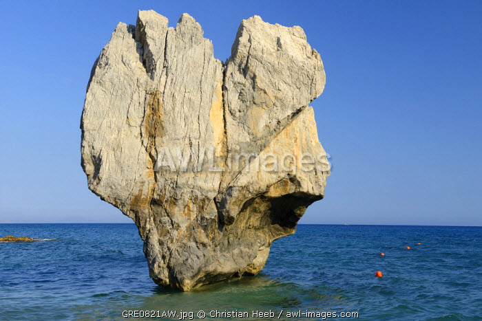 Rock formation at Preveli beach, Crete, Greece, Europe