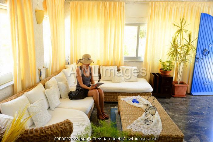 Lassion Golden Bay Hotel,Agia Fotia, Crete, Greece, Europe Model release 0009