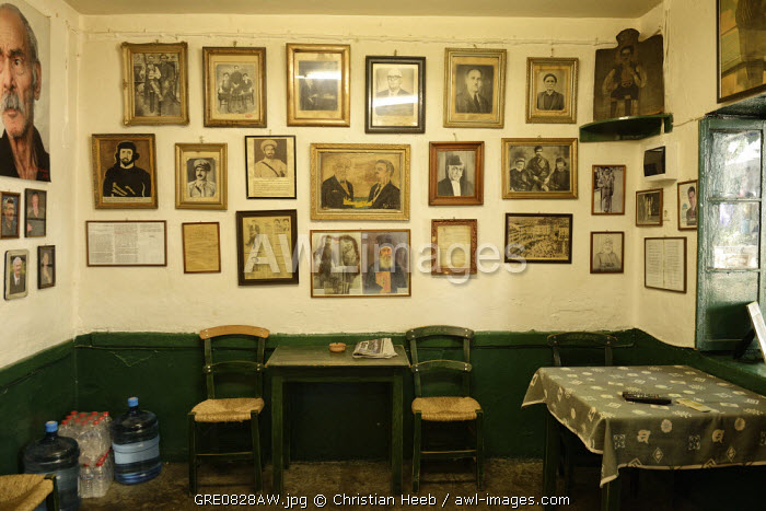 Tavern in Anogia, Crete, Greece, Europe