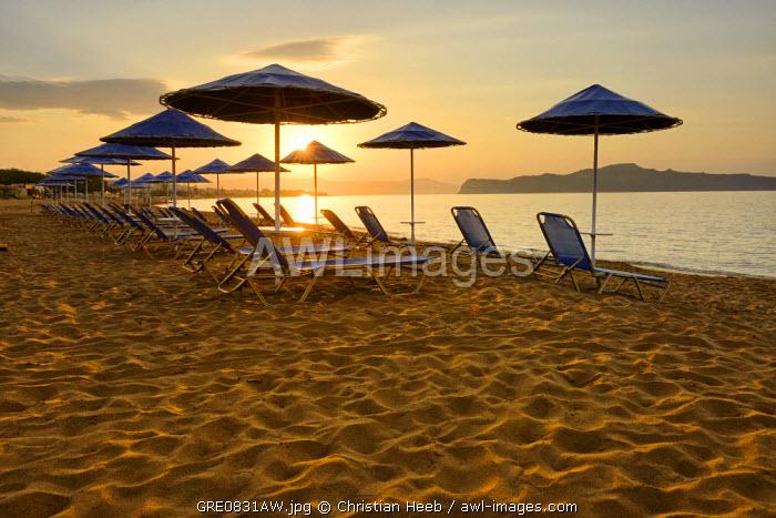 Beach at Agia Marina, Crete, Greece, Europe