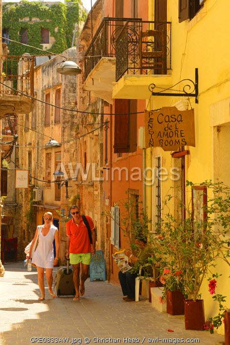 Street in Chania, Crete, Greece, Europe