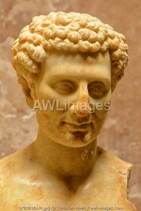 Statue in the Archeological Museum, Chania, Crete, Greece, Europe