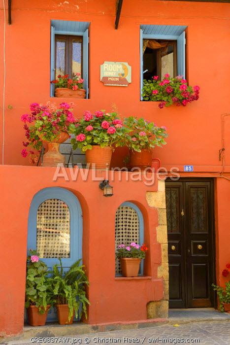 Colourful House in Chania, Crete, Greece, Europe