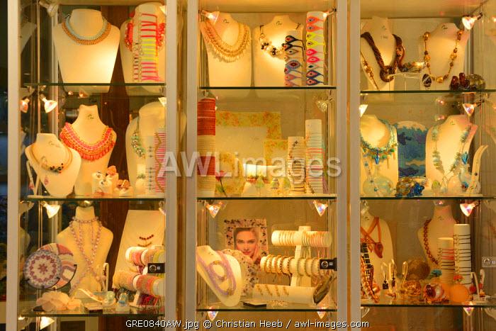 Shop window in Chania, Crete, Greece, Europe