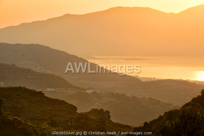 Mountain Scenery in Deliana, Crete, Greece, Europe