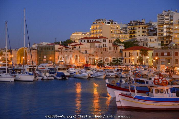 Venetian Harbor in Heraklion, Crete, Greece, Europe