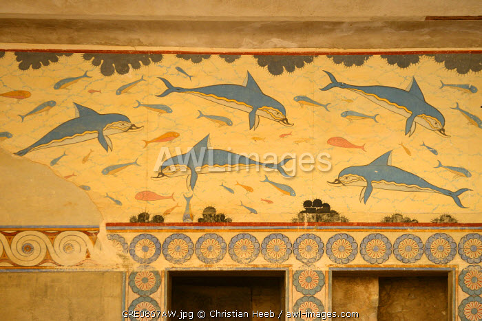 Knossos Palace, Heraklion, Crete, Greece, Europe