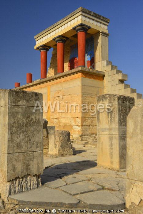 Knossos Palace, Heraklion, Crete, Greece, Europe