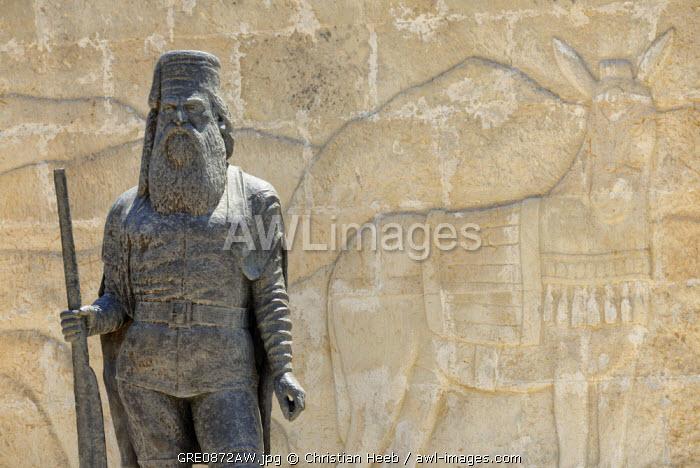 Statue in Koustogerako, Crete, Greece, Europe
