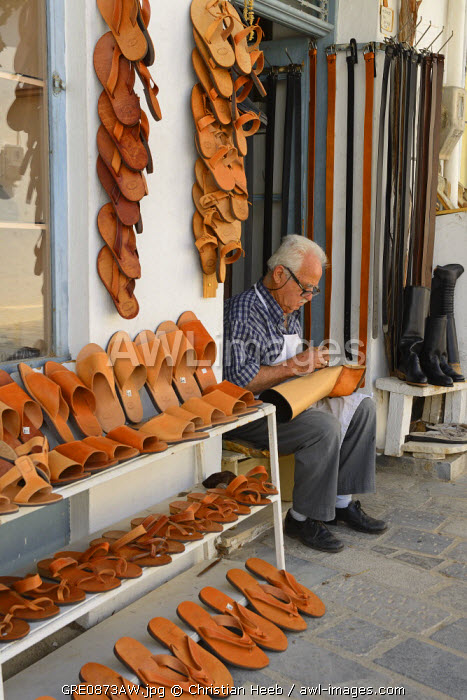 Shoemaker in Kritsa, Crete, Greece, Europe