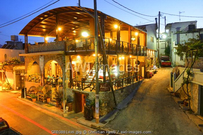 Hotel Restaurant Vilatei, Agios Konstantinos, Lassithi Plateau, Crete, Greece, Europe