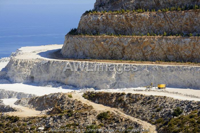 A quarry in Mochlos, Crete, Greece, Europe