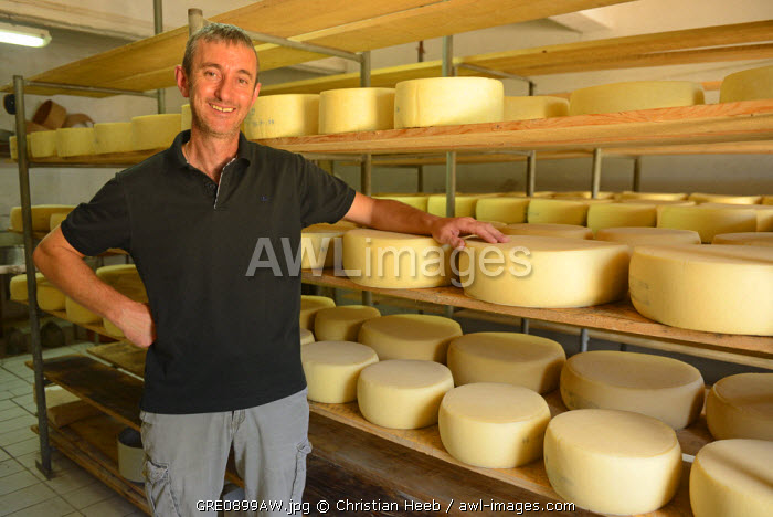Fromagerie, Cheese maker, Omalos Plateau, Crete, Greece, Europe