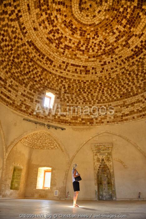 Interior of a mosque, Rethimno, Crete, Greece, Europe