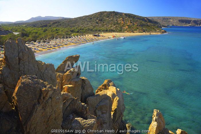 Vai, Palm Beach, Crete, Greece, Europe