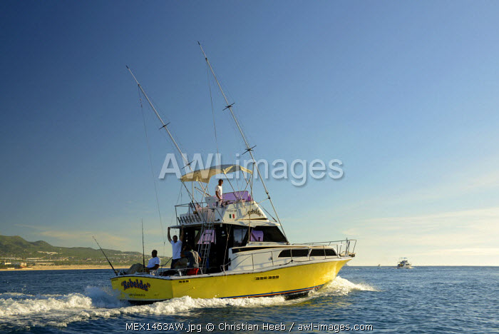 Fishing boat of the coast of Cabo San Lucas, Baja California, Mexico