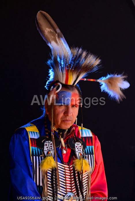 Lakota Indian jim Yellowhawk, South Dakota, USA MR