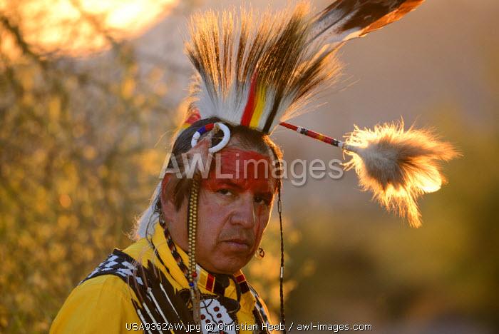 Jim Yellowhawk at Lost Dutchman State Park, Phoenix, Arizona, USA MR