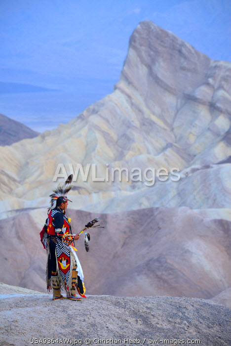 Jim Jellowhawk at Zabriskie Point, Death Valley National Park, California, USA MR