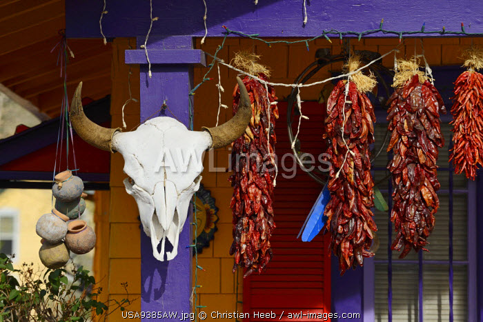 Shop decoration in Madrid, New Mexico, USA