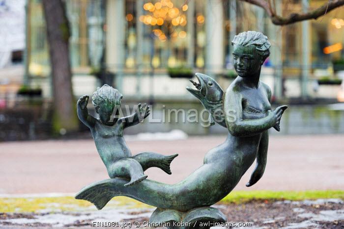 Europe, Scandinavia, Finland, Helsinki, mermaid statue