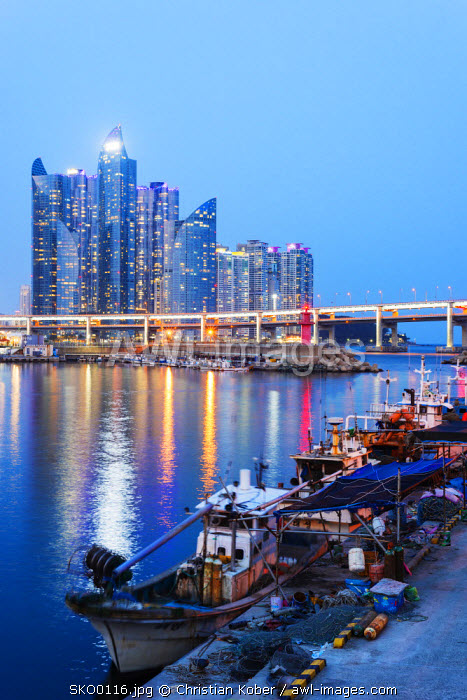 Asia, Republic of Korea, South Korea, Busan, city skyline