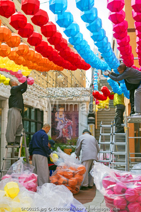 Asia, Republic of Korea, South Korea, Busan, festival preparations