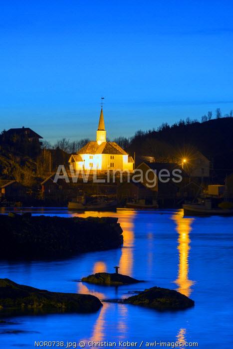 Europe, Scandinavia, Norway, Lofoten islands, Moskenesoy, Moskenes, parish church