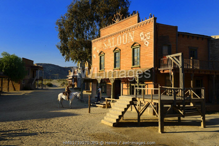 awl-images.com - Spain / Spain, Andalusia, Almeria province, Tabernas desert, Fort Bravo Texas-Hollywood Amusement park where the 7 Mercenaries from John Sturges, Les Petroleuses from Christian-Jaque and A Fistful of Dollars from Sergio Leone were filmed