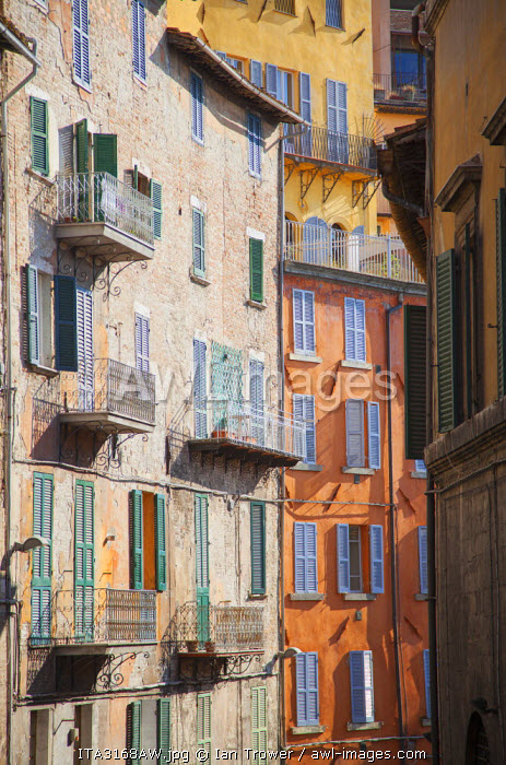 Typical buildings, Perugia, Umbria, Italy