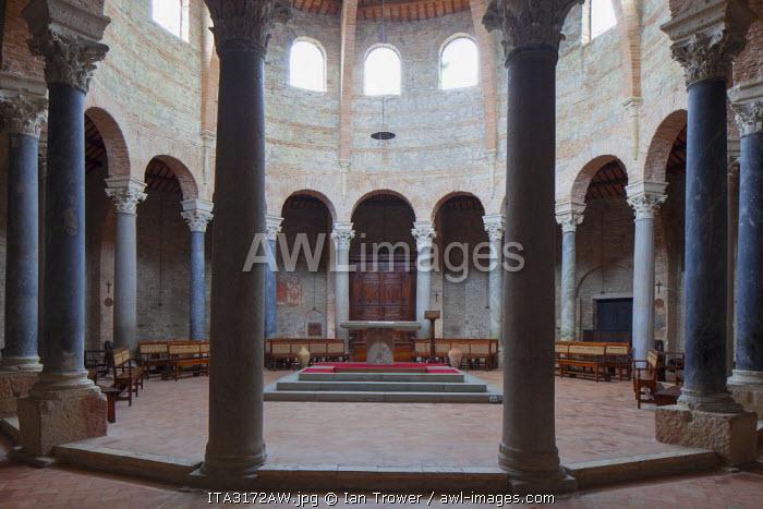 5th Century Romanesque Church of Sant' Angelo, Perugia, Umbria, Italy