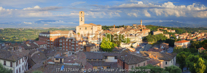 View of San Domenico Church, Perugia, Umbria, Italy