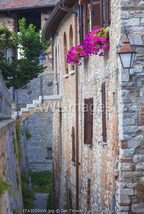 Typical house, Gubbio, Umbria, Italy