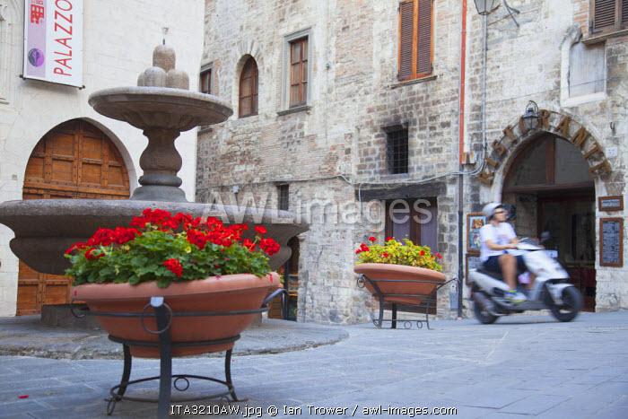 Fountain of Lunatics, Gubbio, Umbria, Italy