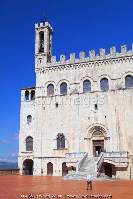 Palace of the Consuls in Piazza Grande, Gubbio, Umbria, Italy