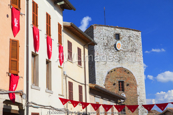Porta di Sant'Agostino, Gubbio, Umbria, Italy