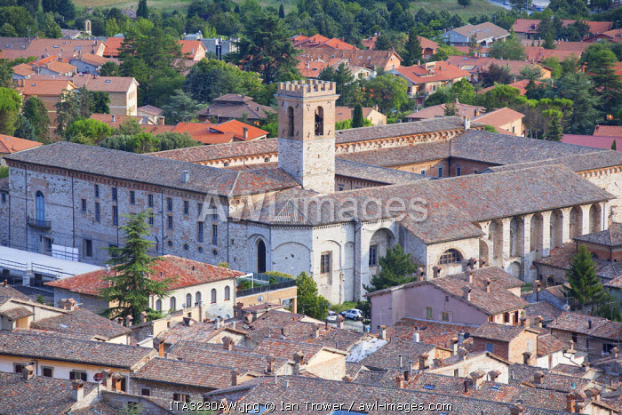 View of Church of St Peter, Gubbio, Umbria, Italy