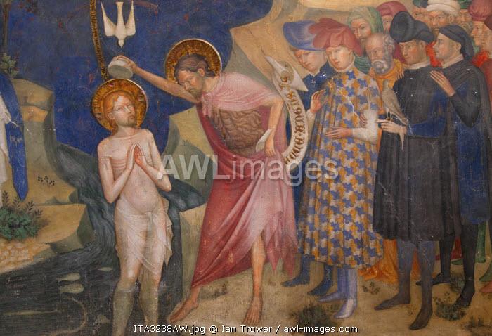 Fresco inside Oratorio di San Giovanni, Urbino (UNESCO World Heritage Site), Le Marche, Italy