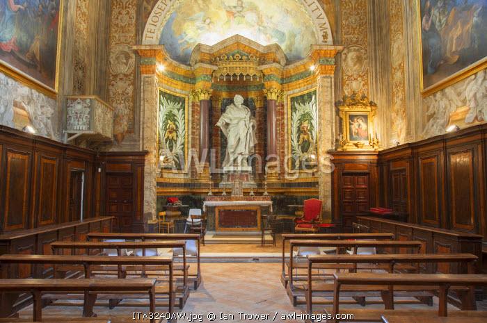 Interior of Oratorio di San Giuseppe, Urbino (UNESCO World Heritage Site), Le Marche, Italy