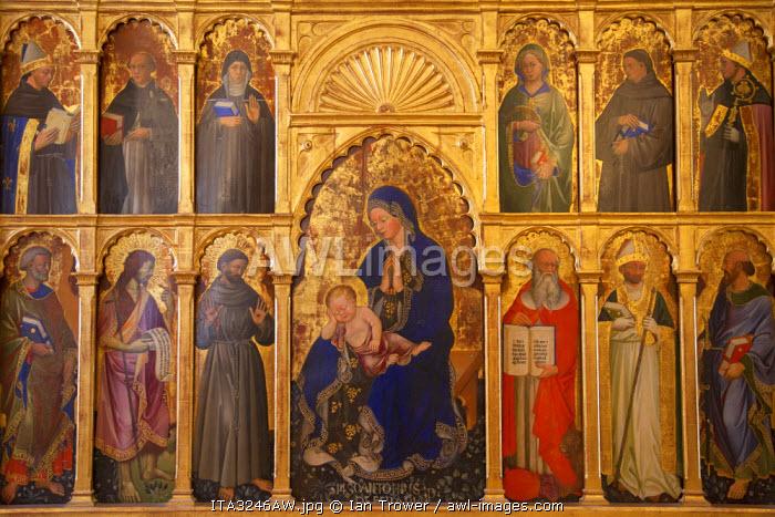 Religious icon inside Palazzo Ducale, Urbino (UNESCO World Heritage Site), Le Marche, Italy