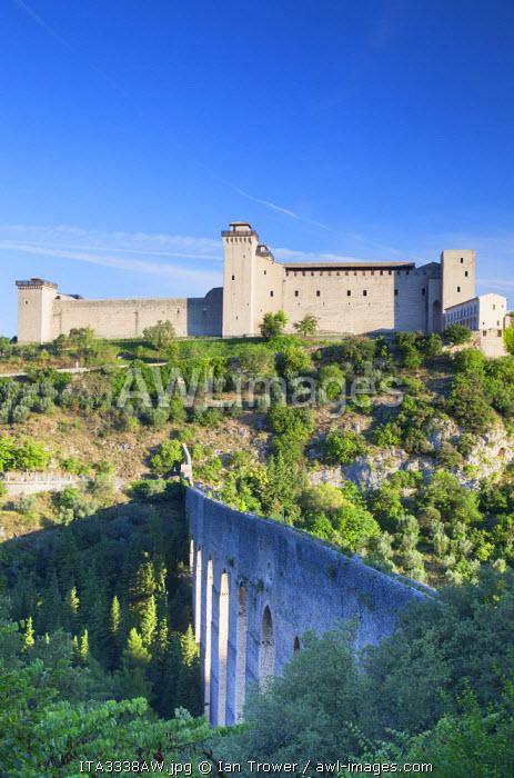 Rocca Albornoziana and Ponte delle Torri, Spoleto, Umbria, Italy