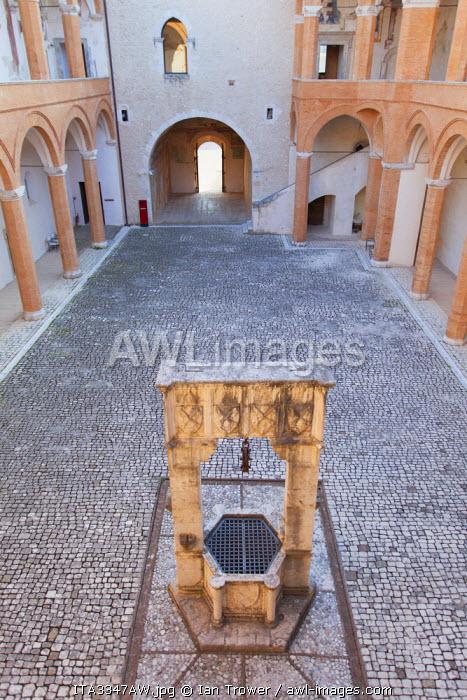 Courtyard of Rocca Albornoziana, Spoleto, Umbria, Italy