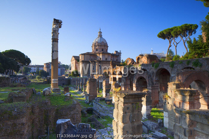 Roman forum (UNESCO World Heritage Site), Rome, Lazio, Italy